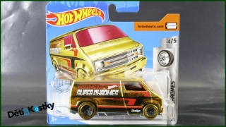 Hot Wheels Autíčko Custom '77 Dodge Van (SUPER CHROMES)