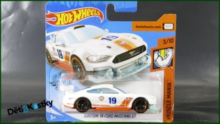 Hot Wheels Autíčko Custom '18 Ford Mustang GT (MUSCLE MANIA)