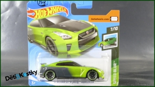 Hot Wheels Autíčko '17 Nissan GT-R (R35) - Guaczilla (SPEED BLUR)