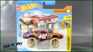Hot Wheels Autíčko Olds 442 W-30 (HW ART CARS)