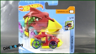 Hot Wheels Autíčko Piranha Terror (STREET BEASTS)